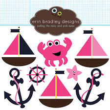 pink nautical clipart
