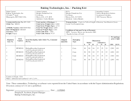 Sample Packing Slip Form Export Packing List Format Invoice India Under Gst Indian In