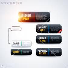 Organization Chart Design Template Modern Organization Chart Template With Glowing Lights On