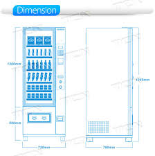 Soda Vending Machine Size Custom China Tcn Water Cookie Soda Spirit Vending Machine Black Shell