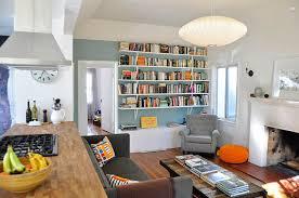 Floating Wall Shelves For Books Long Square White Stayed Rack Thin Wooden  Material Modern Design Short