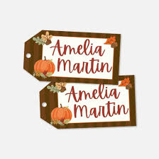 Fall Place Cards Fall Party Place Cards Template