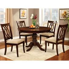 for furniture of america cerille 5 piece round formal dining set get free delivery at overstock your furniture