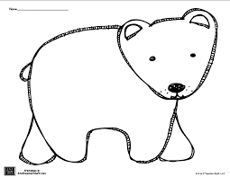 Small Picture Brown Bear or Polar Bear Coloring Page or Pattern free printable