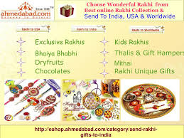 send rakhi to ahmedabad rakhi gifts to ahmedabad powerpoint ppt presentation