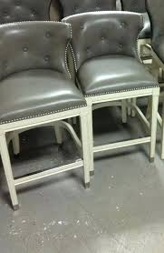 gray leather swivel counter height stools the barn parker vintage pu stool 2 bar chair slate