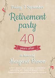 Retirement Flyer Template Newswow Info