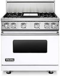 viking stove white. viking professional 7 series vgr73614gwh - 36 inch gas white range and stove