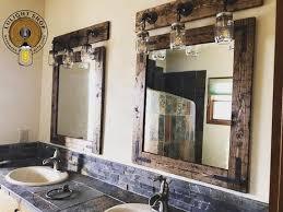 rustic distressed mirror wall mirror