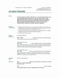 Sample Of A Professional Cover Letter College Student Sample Resume Elegant Professional Resume