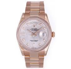 rolex president day date meteorite diamond rose gold watch dial rolex president day date meteorite diamond rose gold watch dial 118205 automatic winding