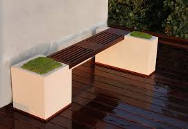 modern concrete patio furniture. Concrete And Ipe Bench Modern-deck Modern Patio Furniture U