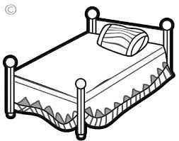 bed clipart black and white.  Clipart Download Free Printable Clipart And Coloring Pages For Bed Black White I