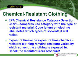 Epa Chemical Resistance Chart Ppt Personal Protective Equipment Ppe Powerpoint