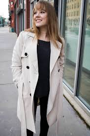 trench coat winter to spring style transition