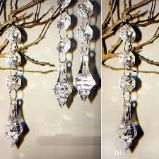 crystal beads for chandelier acrylic crystal beads garland chandelier hanging wedding birthday party decoration supplies gift