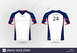 Football Shirt Designs White Blue And Red Pattern Sport Football Kits Jersey T