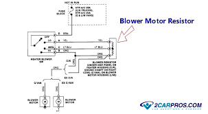how to replace a blower fan motor in under minutes below is a typical wiring diagram for the blower motor circuit which is basically the same for all vehicles utilizing this manual system