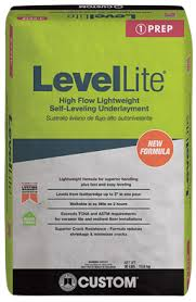 Self Leveling Coverage Chart Levellite Self Leveling Underlayment Custom Building Products