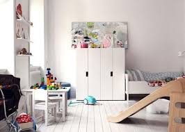 playroom furniture ikea. Scandinavian Playroom With White Floors And IKEA Slide + Kids Furniture Ikea