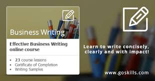 Online business writing training