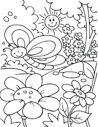 Spring Coloring Pictures Coloring Spring Coloring Sheets Pages Free