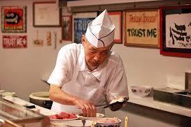 Sushi Cook Kazunori Nozawa Of Sushi Nozawa In Los Angeles Is Set To