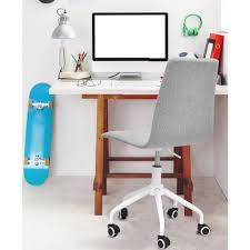 Computer Desk And Chair Mainstays Rolling Linen Swivel Chair Multiple Colors Walmartcom