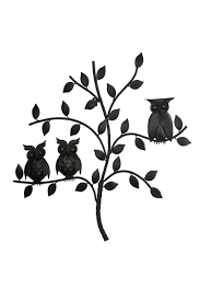ganz metal owl wall art front cropped image
