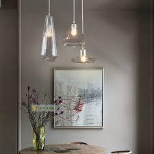 modern minimalist hanging lamp restaurant bar counter window display pendant art led shadow crystal glass pendant