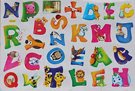 animal alphabet letters wall art