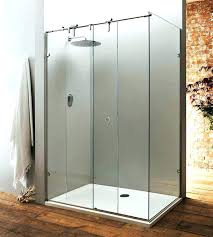 shower door glass thickness a bespoke sliding shower door with fixed side panel made thick toughened
