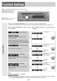 function settings, function menu panasonic cq rx400u user manual Panasonic Car Stereo Wiring Diagram at Panasonic Cq Rx100u Installation