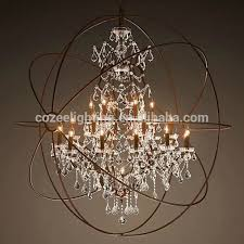 ceiling lights surprising white north european style big orb industrial cage crystal chandelier within top