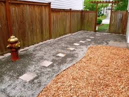 dog run complete with cedar potty area flushable gravel walkway and fire hydrant