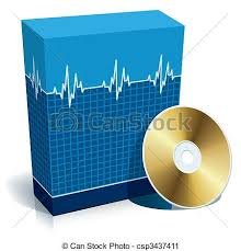 3d And Cd Box Medical Software Blank Software With Blue