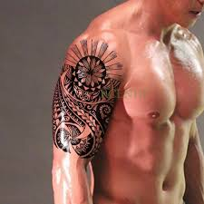 Waterproof Temporary Tattoo Sticker Tribal Totem Fake Tatto Flash Tatoo On Body Back Leg Arm Belly Large Size For Women Men Girl