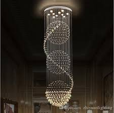 lighting for stairs. Led Crystal Chandeliers Lights Stairs Hanging Light Lamp Indoor Lighting Decoration With D70cm H200cm Chandelier Fixtures For Dining Room
