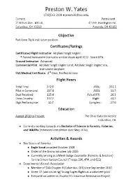 Pilot Resume Template Fresh Aviation Resume Examples Pilot Sample