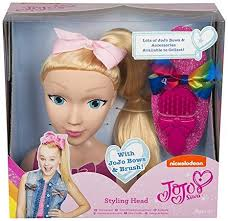 barbie head hair styling awesome amazon jojo bow styling head playset with bow brush toys