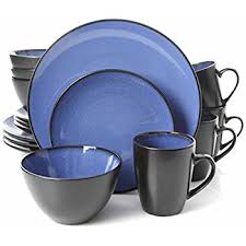 blue dinnerware sets. Brilliant Blue Gibson Home 16 Piece Reactive Stoneware Soho Round Dinnerware Set Blue And Sets T