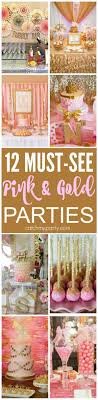 12 Must-See Pink and Gold Birthday Parties! There are ideas for bridal  showers