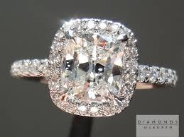 cushion cut diamonds chunky diamond diamond halo ring