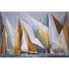 abstract sailing paintings sailboat abstract paintings ocean regatta oil painting canvas
