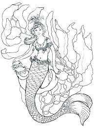 Mermaid Coloring Pages Printable Barbie Coloring Pages Print S S