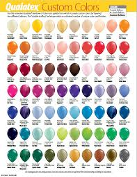 Qualatex Balloons Color Chart Qualatex Custom Colour Charts Wholesale Balloons And Party