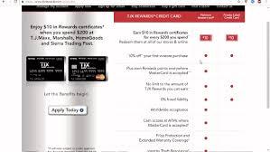 tj ma credit card cash rewards at