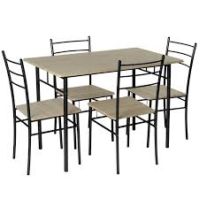 5 piece modern dining table and 4 chairs