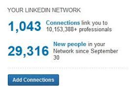 3 Linkedin Counts Each Connection Copyright Linkedin