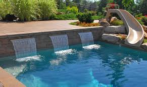 Swimming Pool Pictures With Waterfalls